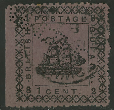 British Guiana  1882  Scott # 104  USED