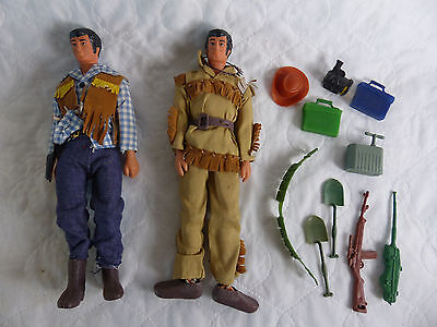 "vintage Action Team / Action Man Hong Kong ""Knock Off"" Figuren und Outfit Lot"