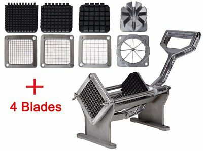 Potato French Fry Fruit Vegetable Commercial Cutter Slicer Cutting W/4 Blades OH