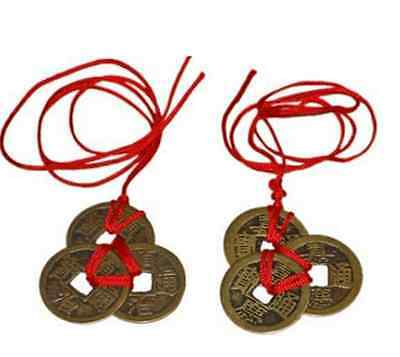 6PCS/set Chinese Feng Shui Brass Coins for Good Luck Fortune Success Wealth Gift