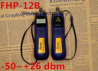 -50~+26 dbm Mini Fiber Optic Power Meter +1mw 5Km Fiber Optic Cable Tester Meter