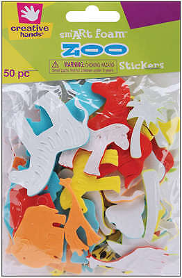 Foam Stickers 50/Pkg Zoo 8897
