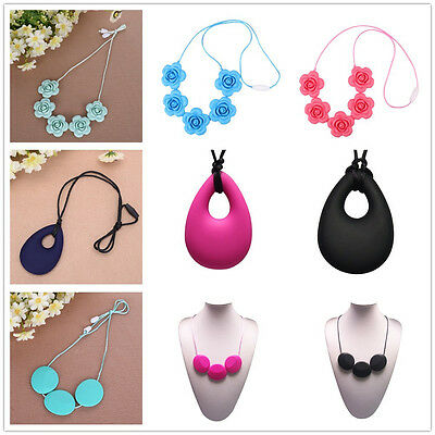 Food-Grade Silicone Teething Necklace Toys Breastfeeding Mom Jewelry BPA-Free UK