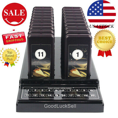 SU-68 20 Restaurant Coaster Pager Guest Call Wireless Paging Queuing System US!