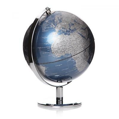 25cm World Globe Rotating Swivel Map of Earth Atlas Geography Vintage Mens Gift