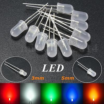 3mm/5mm Round top Milky Diffused Colorful LED Emitter Diode Bright Light Lamp