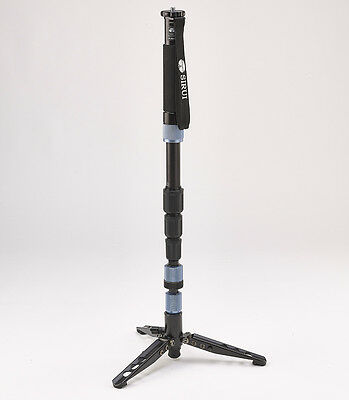 Sirui P-204S Aluminum Monopod w/ Three Stand Feet & Carry Case Free Shipping