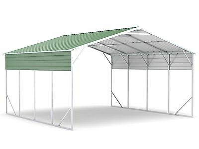 New Carport 6.2m x 6.0m x 3.6m Widespan Dark Green ships to NZ only
