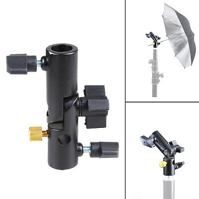180° Swivel Softbox Umbrella Holder Light Stand Tripod Connector Bracket Adapter
