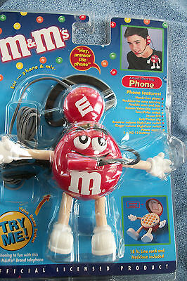 Mars Inc Red M & M Character Novelty Actual Working Phone In Original Packaging