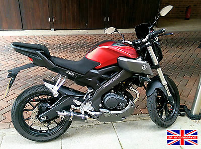 Yamaha MT125 14-16 SP Engineering Carbon Fibre Stubby Slash Exhaust Full System