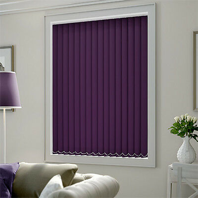 Quality Purple Made to Measure Vertical Blind Set - Complete Blind in Your Size