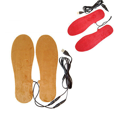 New USB Electric Powered Heated Winter Insoles For Shoes Boots Keep Feet Warm