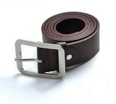 Belt with Silver Buckle - available in Black or Brown