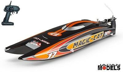 MAGIC CAT Joysway Micro Ep Speed Boat Barca Offshore RC RTR Ready To Run 27Cm