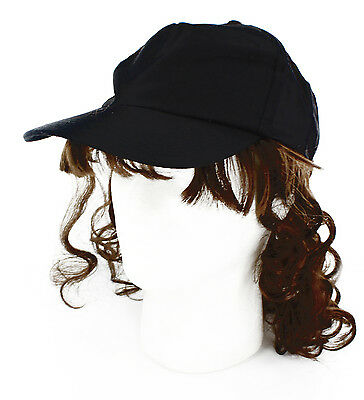 Billy Ray Mullet Costume Hat With Brown Hair