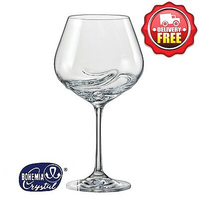 Bohemia Crystal Turbulence Red Wine Glasses Goblet 570ml 2pcs | Aerator Built In