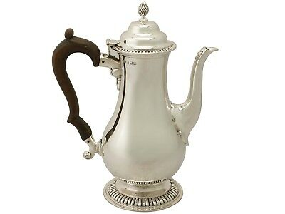 Antique George V Sterling Silver Coffee Pot by Richard Comyns, George III Style