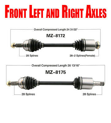 Front Complete CV Shaft Axles for Automatic Transmission for Mazda 6 2.5L 09-13
