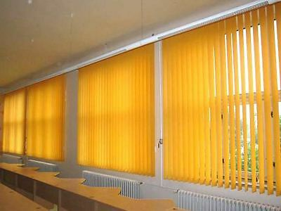 Complete Yellow Made to Measure Vertical Blind Set With Weights & Chain