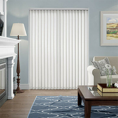 Complete White Made to Measure Vertical Blind Set With Weights & Chain - BARGAIN