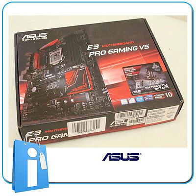Placa base ATX C232 ASUS E3 PRO GAMING V5 ddr4 Socket 1150 con Accesorios