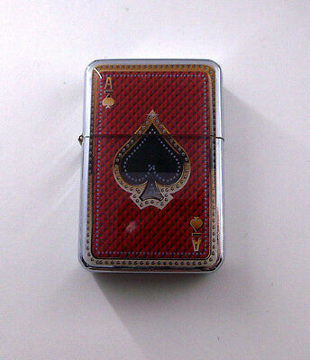 Ace of Spades Poker Playing Card Wind Proof Oil Flip Lighter bb