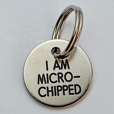 Quality Engraved Pet tag - mini nicron circle 20mm
