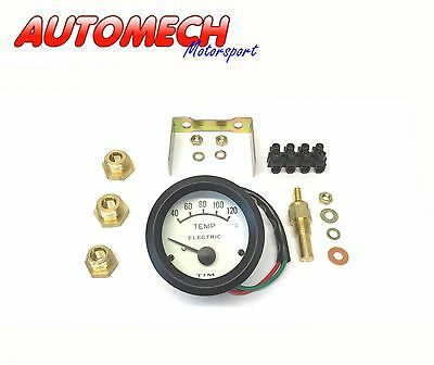 Tim, Electric Water Temp Temperature Gauge Kit with Fittings 52mm (700030)