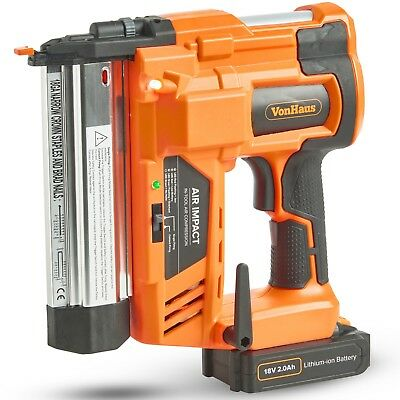 VonHaus Nail Gun & Staple Gun Cordless Electric Heavy Duty Stapler Nailer 18V
