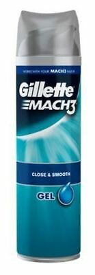 Gillette Mach3 200ml shave gel close and smooth