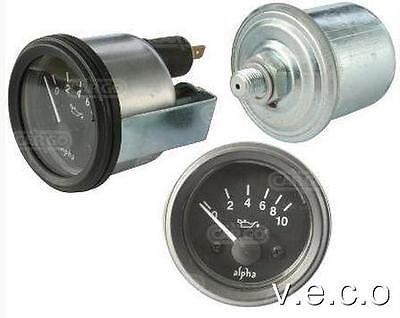 12 Volt Replacement Electrical Oil Pressure Gauge And Sender Kit 160700
