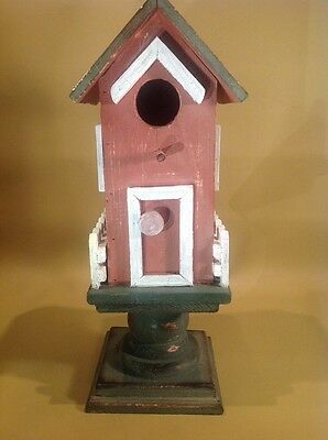 """Wood Bird House, Hand Made, New Rustic Chicken coop  15.5"""" Tall"""