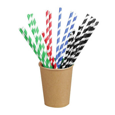 Packnwood Natural Unwrapped Paper Straws, Pack of 500 Color Black - Pack of 500