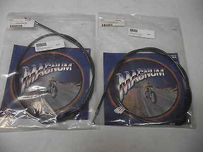 Magnum Throttle and Idle Cables for 96 and later Harleys (44 1/4 inch)