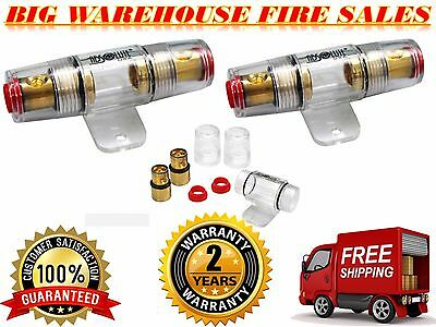 Heavy Duty Construction 4 or 8 Gauge Inline AGU Fuse Holder for Car Audio Amp