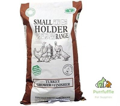 20Kg Allen & Page Small Holder Range Turkey Grower / Finisher  Food Pellets Feed
