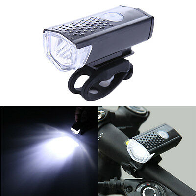CREE 300LM Cycling Bicycle LED Lamp USB Rechargeable Bike Head Front Light Torch