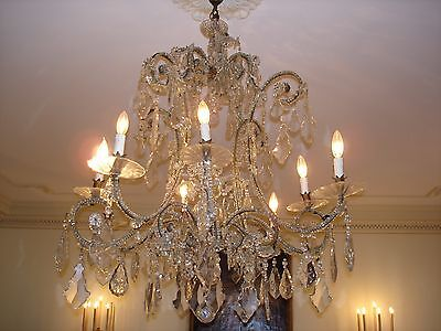 Gorgeous 19Th Century Antique Italian Crystal Chandelier • CAD $20,762.79