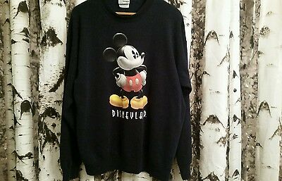 Vintage Disneyland Mickey Mouse Graphic Sweatshirt Retro 90s Throwback VTG Hipst