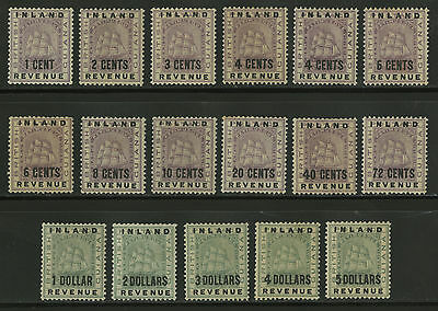 British Guiana  1889  Scott # 112-128  Mint Lightly Hinged Set (17/18)