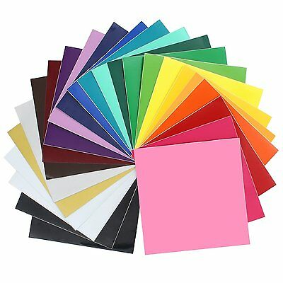 """Oracal 651 Gloss Vinyl - 12"""" x 12"""" for silhouette, cricut. 24 Pack of Top Colors"""