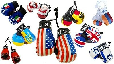 Country National Flag Mini Boxing Gloves Home Car Hanger Small Boxing Gloves