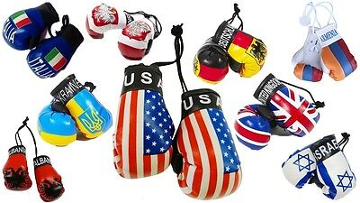 National Flag Mini Boxing Gloves Decor OfficeHome Car Hanger Small Boxing Gloves