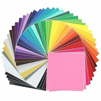 """Oracal 631/651 Vinyl - 12"""" x 12"""" for silhouette, cricut. 48 Pack of Top Colors"""