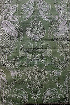 Antique French Silk 19thC (1890) Panel~Original Sales Tag~18thC style~Collectors