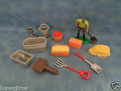 Lot of 12 Plastic Horse / Stable Accessories & Figure