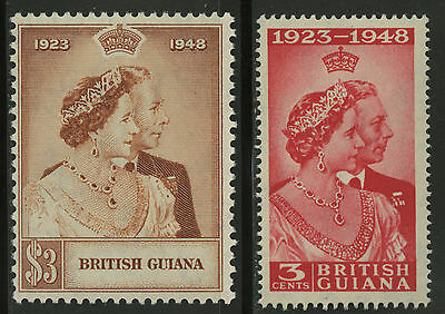 British Guiana  1948  Scott # 244-245  Mint Lightly Hinged Set