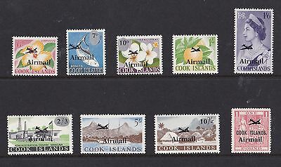 Cook Islands 1966  S G 185 - 193  Airmail Set To One Pound    Mnh