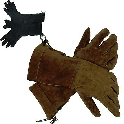 Quality Split Leather Gloves Period Costume. Re-enactment Or LARP Black Or Brown